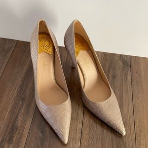Cole Haan Snakeskin Pumps with Nike Insole